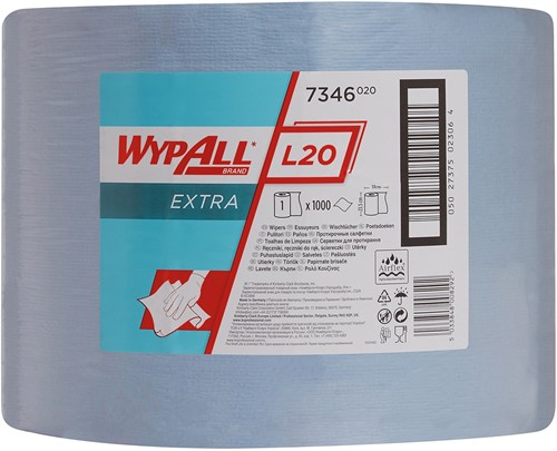 Wypall L20 Extra Poetsdoek Grote rol 7346
