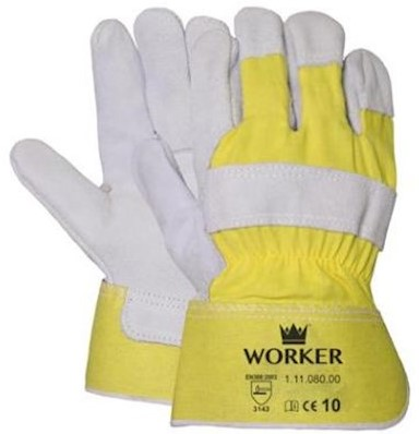 A-kwaliteit splitlederen handschoen, zware kwaliteit