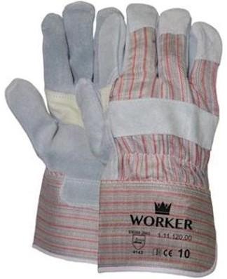 A-kwaliteit splitlederen handschoen met palmversterking