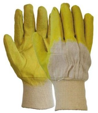 Latex gedompelde handschoen met open rugzijde