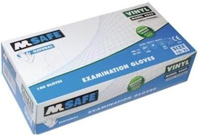 M-Safe 4060 disposable vinyl handschoen - 8/m