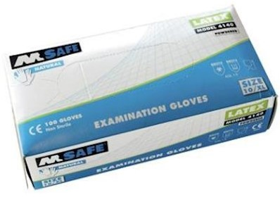 M-Safe 4140 disposable latex handschoen - 7/s