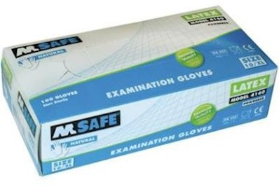 M-Safe 4160 disposable latex handschoen - 8/m