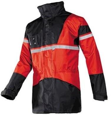 Sioen 288A Cloverfield parka - rood/zwart - l