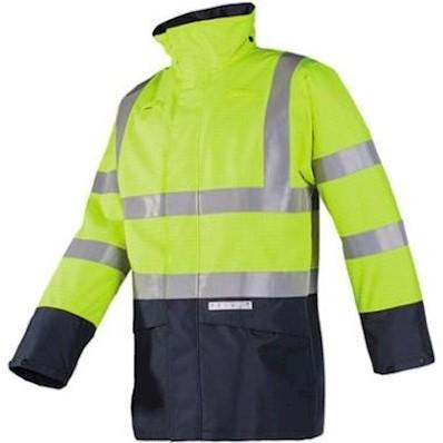 Sioen 7219 Elliston parka - fluo geel/marineblauw - l