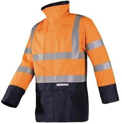 Sioen 7219 Elliston parka - fluo oranje/marineblauw - m