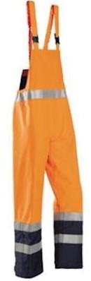 Sioen 6133 Brisbane Amerikaanse overall - fluo oranje/marineblauw - s