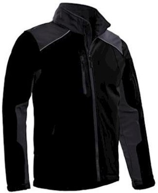 Santino Tour softshell jas - zwart/grijs - xl
