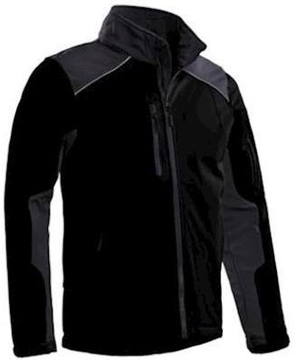 Santino Tour softshell jas - zwart/grijs - 4xl
