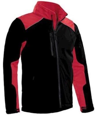 Santino Tour softshell jas - zwart/rood - l