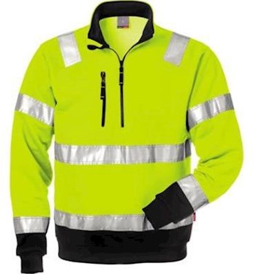 Fristads Kansas 728 BPV sweater - fluo geel/zwart - m