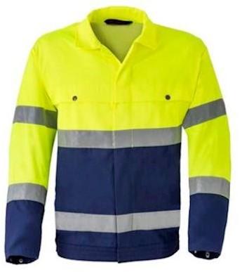 HAVEP 5105 jack - fluo geel/marineblauw - 60