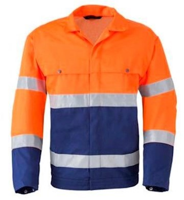 HAVEP 5105 jack - fluo oranje/marineblauw - 48