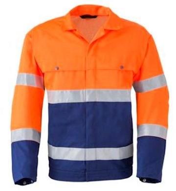 HAVEP 5105 jack - fluo oranje/marineblauw - 54