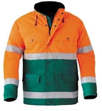 HAVEP 4133 parka - fluo oranje/groen - l