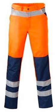 HAVEP 8410 broek - fluo oranje/marineblauw - 56