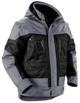 Blåkläder 4886 jas - zwart/grijs - m