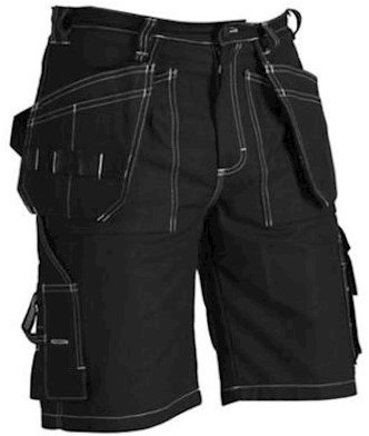 Blåkläder 1534 1370 korte broek - zwart - c50