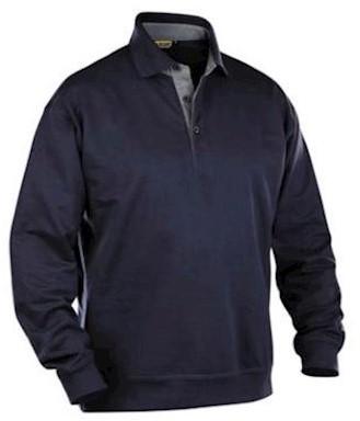 Blåkläder 3370 polosweater - marineblauw - xl