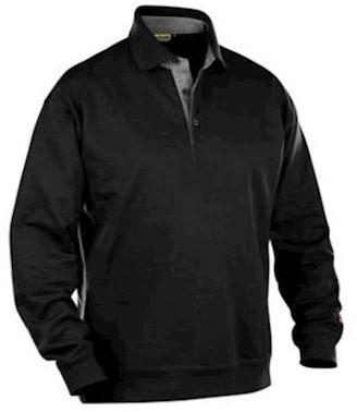Blåkläder 3370 polosweater - zwart - 3xl