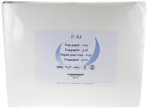 PURE Traypapier 28x36cm wit