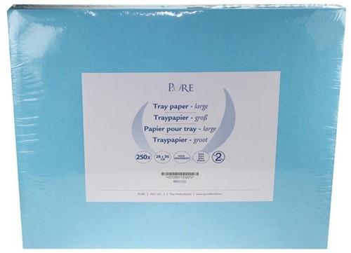 PURE Traypapier 28x36cm blauw