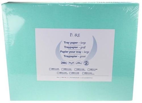 PURE Traypapier 28x36cm groen