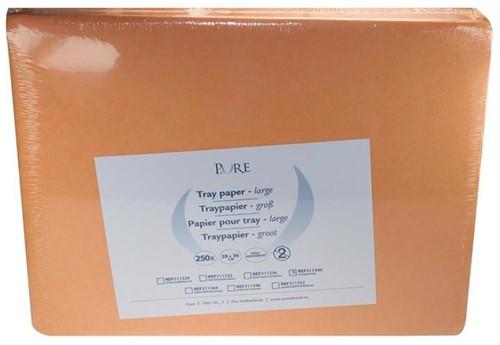 PURE Traypapier 28x36cm oranje