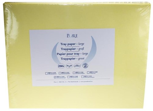 PURE Traypapier 28x36cm geel