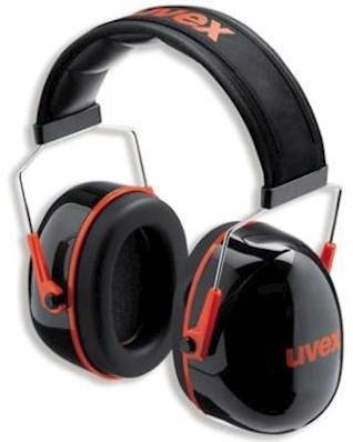 uvex K3 2600-003 gehoorkap met hoofdband