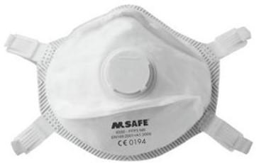 M-Safe 6330 stofmasker FFP3 NR met uitademventiel