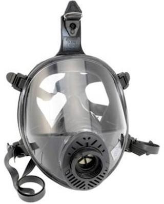 Spasciani TR 2002 CL3 zwart neopreen volgelaatsmasker