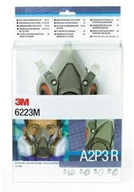 3M 6223M starterskit voor halfgelaatsmaskers met A2-P3 R filtercombinatie
