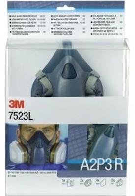 3M 7523L starterskit voor halfgelaatsmaskers met A2-P3 R filtercombinatie