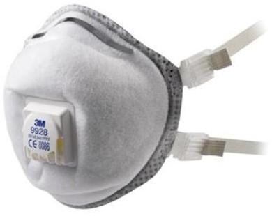 3M 9928 stofmasker FFP2 R D met uitademventiel