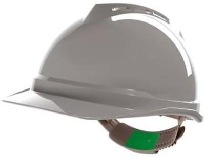 MSA V-Gard 500 ongeventileerde veiligheidshelm met Push-Key binnenwerk