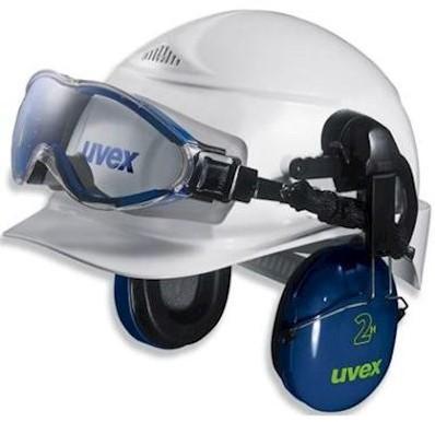 uvex ultrasonic 9302-510 ruimzichtbril t.b.v. helmbevestiging