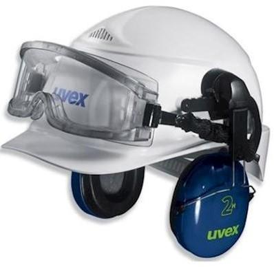 uvex ultravision 9301-544 ruimzichtbril t.b.v. helmbevestiging