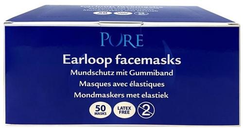 Pure mondmasker met elastiek wit
