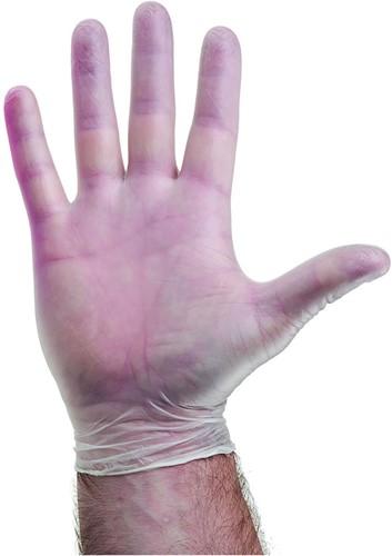 Vinyl handschoenen Naturel gepoederd - 8/m