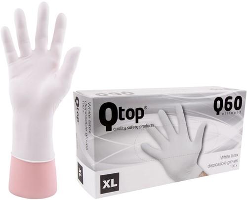 Latex Handschoenen wit gepoederd - 10/xl