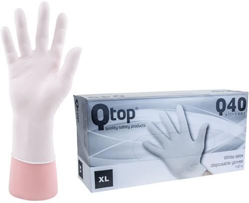 Latex Handschoenen wit poedervrij - 10/xl