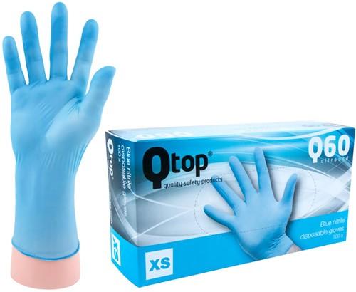 Qtop Q40 Blauwe Nitril Handschoenen - 6/xs