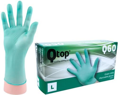Qtop Q40 Groene Nitril Handschoenen - 10/xl