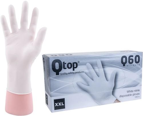 Qtop Q40 Witte Nitril Handschoenen