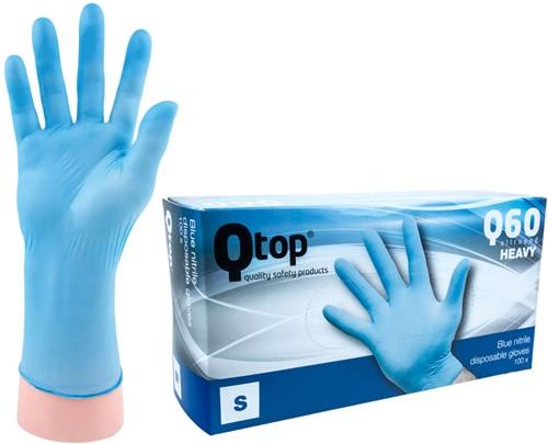 Qtop Q60 Heavy Nitril Handschoenen Blauw - 7/s