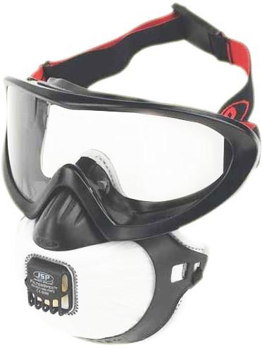 JSP Filterspec Pro stofmasker met ruimzichtbril inclusief 3 x P3 filter