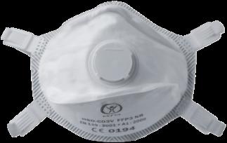 Stofmasker FFP3 NR, model HSD-CO3V (30-330)